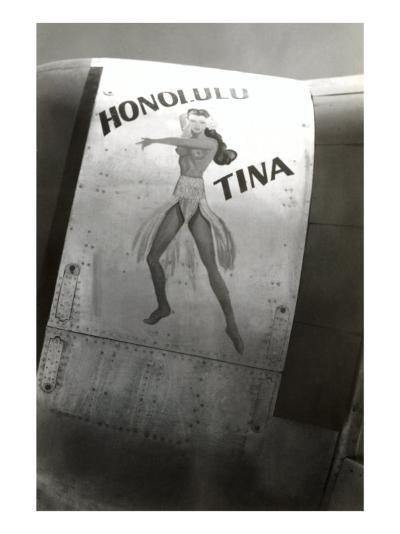 Nose Art, Honolulu Tina Pin-Up--Art Print