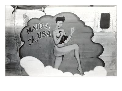 Nose Art, Maid in USA Pin-Up--Art Print