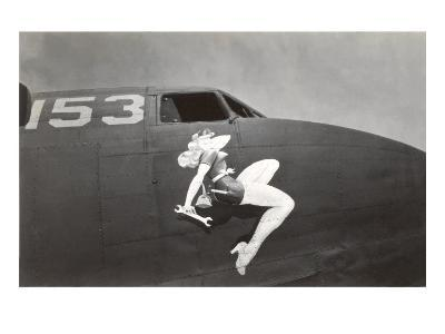 Nose Art, Pin-Up with Wrench--Art Print
