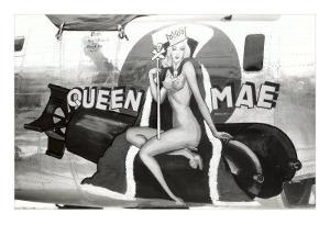 Nose Art, Queen Mae, Pin-Up