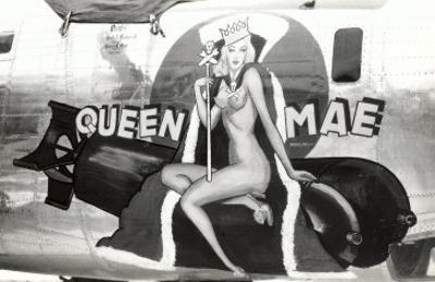 Nose Art, Queen Mae, Pin-Up