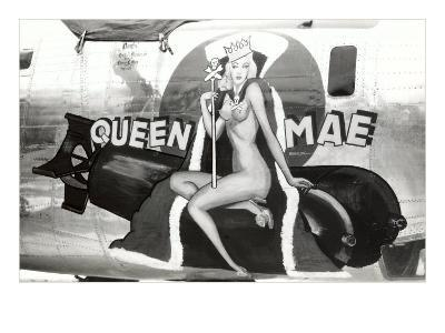 Nose Art, Queen Mae, Pin-Up--Art Print
