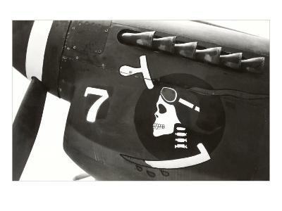 Nose Art, Skull with Goggles--Art Print