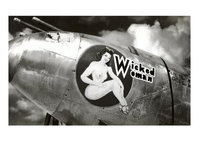 Nose Art, Wicked Woman Pin-Up--Art Print