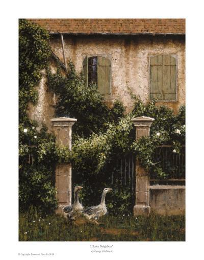 Nosey Neighbors-George Hallmark-Art Print