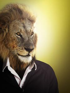 Lion Dressed Up With A Shirt And Jumper by Nosnibor137