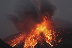 Molten Lava Erupts from Sakurajima Kagoshima Japan by Nosnibor137