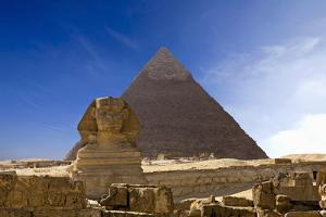 The Famous Ancient Egypt Cheops Pyramid and Sphinx in Giza by Nosnibor137