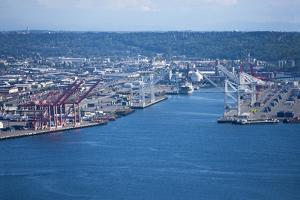 View from Space Needle to Dock Area, Seattle by Nosnibor137