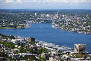View of Puget Sound from Space Needle by Nosnibor137