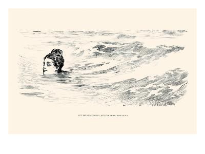Not a Sea Serpent-Charles Dana Gibson-Art Print