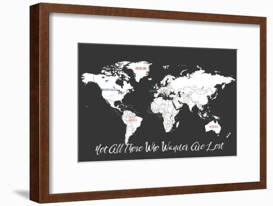 Not All Those Who Wander are Lost in Black-Kindred Sol Collective-Framed Art Print
