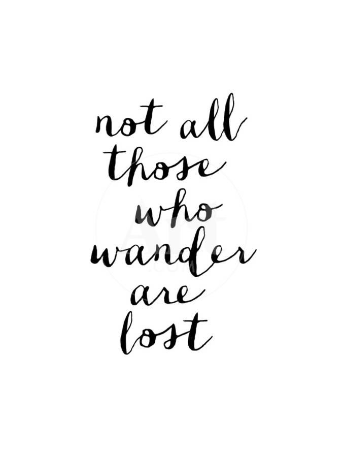 994b97df2d72 Not All Those Who Wander Are Lost Art Print by Brett Wilson | Art.com