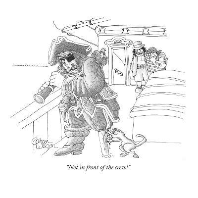 """Not in front of the crew!"" - New Yorker Cartoon-Gahan Wilson-Premium Giclee Print"