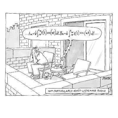 "(""Not-particularly-easy-listening radio"") - New Yorker Cartoon-Jack Ziegler-Premium Giclee Print"