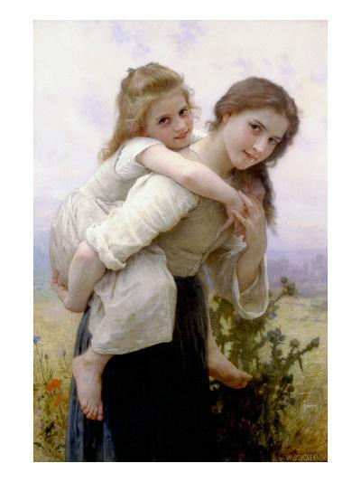 Not Too Much to Carry-William Adolphe Bouguereau-Art Print