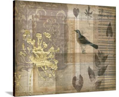 Notebook Collage I-Jennifer Goldberger-Stretched Canvas Print