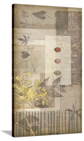 Notebook Collage V-Jennifer Goldberger-Stretched Canvas Print