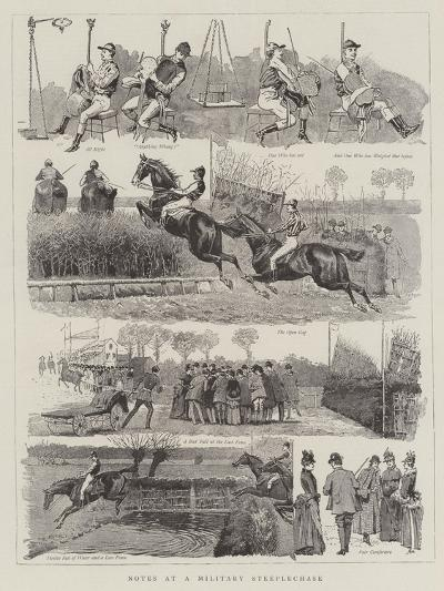Notes at a Military Steeplechase--Giclee Print