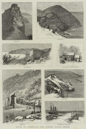 Notes at Lynmouth and Lynton, North Devon--Giclee Print