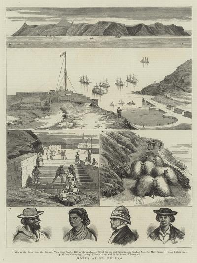 Notes at St Helena--Giclee Print