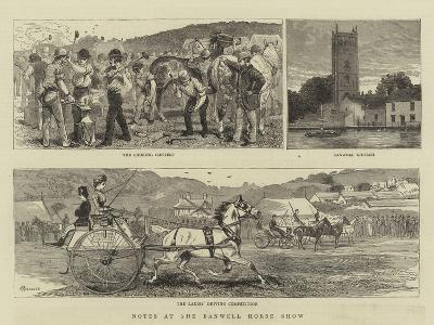 Notes at the Banwell Horse Show-Alfred Chantrey Corbould-Giclee Print