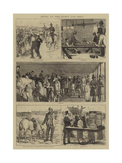 Notes at the Derby and Oaks-Alfred Chantrey Corbould-Giclee Print