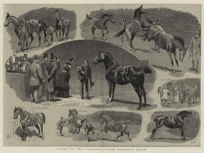 Notes at the Hackney Horse Society's Show-John Charlton-Giclee Print