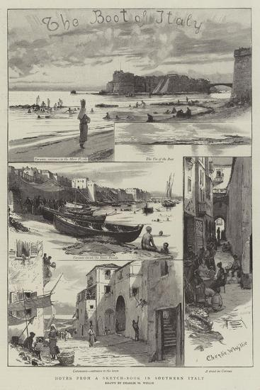 Notes from a Sketch-Book in Southern Italy-Charles William Wyllie-Giclee Print