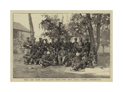 Notes from South Africa, Basuto Police with their Leader, Colonel Schermbrucker--Giclee Print