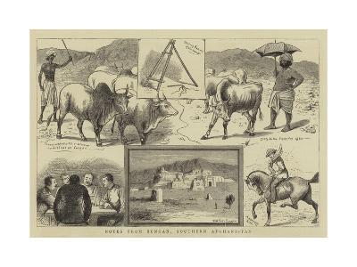 Notes from Sungan, Southern Afghanistan-William Ralston-Giclee Print