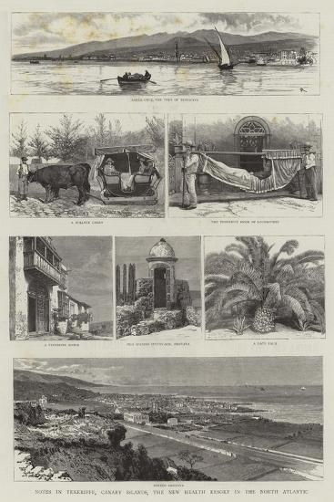 Notes in Teneriffe, Canary Islands, the New Health Resort in the North Atlantic--Giclee Print