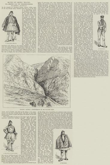 Notes of Greek Travel, Delphi and its Neighbourhood--Giclee Print