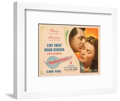 Notorious, Cary Grant, Ingrid Bergman, 1946--Framed Photo