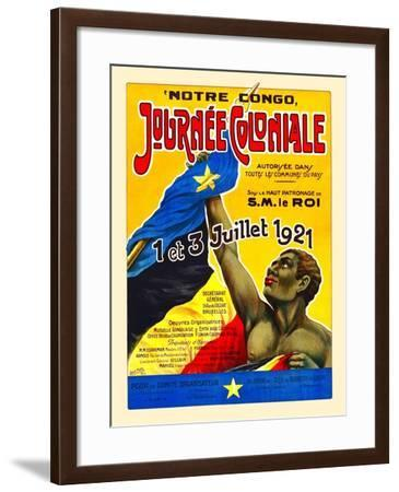Notre Congo Journée Coloniale (Our Congo Colonial Day)-Const. Puffe-Framed Art Print