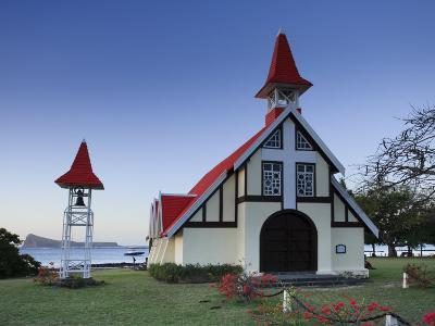 Notre Dame Auxiliatrice Church, Cape Malheureux, Mauritius, Indian Ocean-Michele Falzone-Photographic Print