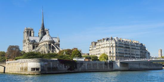 Notre-Dame Cathedral and Ile De La Cite, Paris, France, Europe-G & M Therin-Weise-Photographic Print
