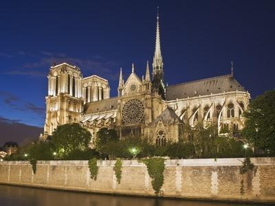 Notre Dame Cathedral at twilight-Peet Simard-Photographic Print