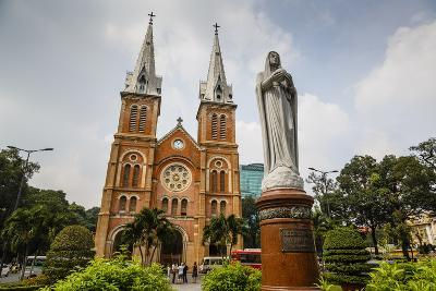 Notre Dame Cathedral, Ho Chi Minh City (Saigon), Vietnam, Indochina, Southeast Asia, Asia-Yadid Levy-Photographic Print