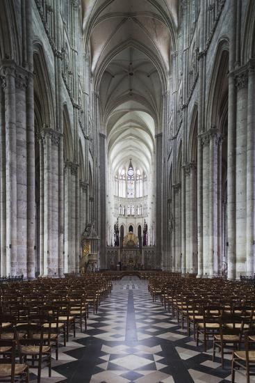 Notre Dame Cathedral Interior, Amiens, Somme, Picardy, France-Walter Bibikow-Photographic Print