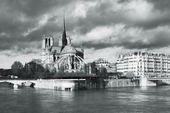 Notre Dame Cathedral on the River Seine, Paris, Ile De France, France, Europe-Markus Lange-Photographic Print