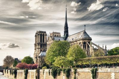 Notre Dame Cathedral - the banks of the Seine in Paris - France-Philippe Hugonnard-Photographic Print