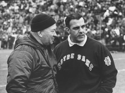 Notre Dame Coach Ara Parseghian-John Dominis-Photographic Print