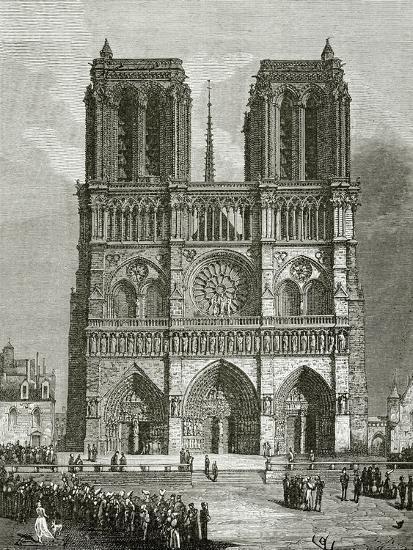 Notre Dame De Paris En 1642 Illustration From Notre Dame De Paris 19th Century Giclee Print By Eugene Emmanuel Viollet Le Duc Art Com