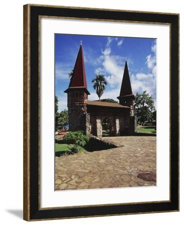 Notre-Dame De Taiohae Cathedral, Taiohae, Marquesas Islands, Nuku Hiva Island, French Polynesia--Framed Giclee Print