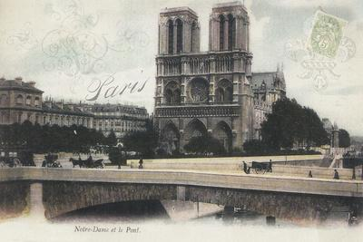 Notre-Dame et le Pont-Stephanie Monahan-Giclee Print
