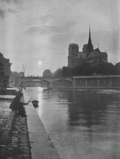 Notre Dame from the river, Paris, 1924-Unknown-Photographic Print