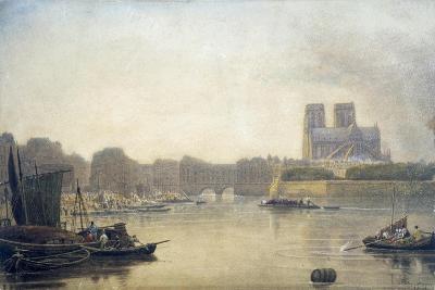Notre Dame, Paris, 19th Century-Frederick Nash-Giclee Print