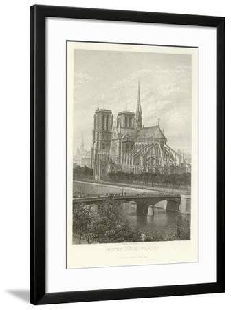 Notre-Dame, Paris-Alphonse Marie de Neuville-Framed Giclee Print