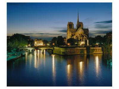 Notre Dame Seine River, Paris--Art Print